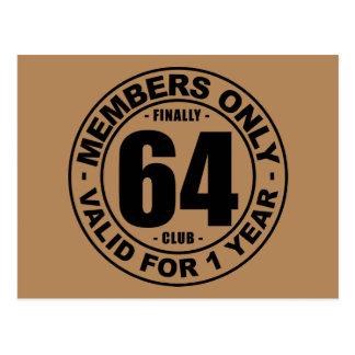 Finally 64 club postcard