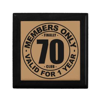 Finally 70 club small square gift box