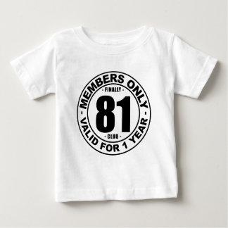 Finally 81 club tshirts
