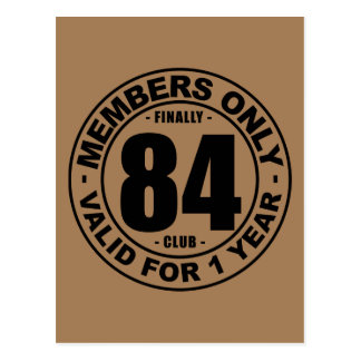 Finally 84 club postcard