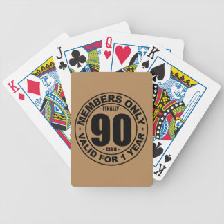 Finally 90 club bicycle playing cards