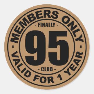 Finally 95 club round sticker
