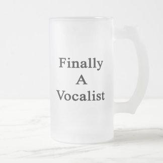 Finally A Vocalist Frosted Glass Mug