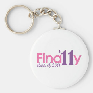 Finally Class of 2011 (Pink) Basic Round Button Key Ring