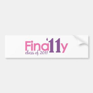 Finally Class of 2011 (Pink) Bumper Sticker