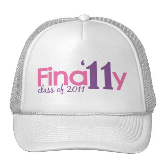 Finally Class of 2011 (Pink) Cap