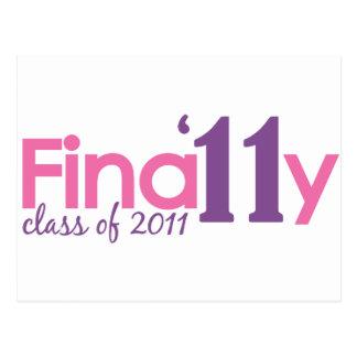 Finally Class of 2011 (Pink) Postcard