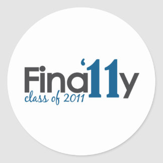 Finally Class of 2011 Round Sticker