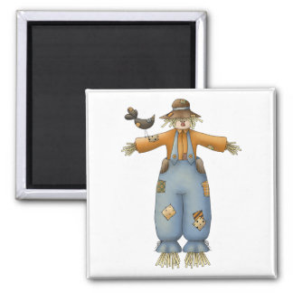 Finally Fall · Scarecrows Square Magnet