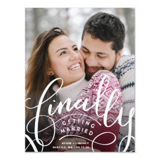 Finally Getting Married Save the Date Magnet