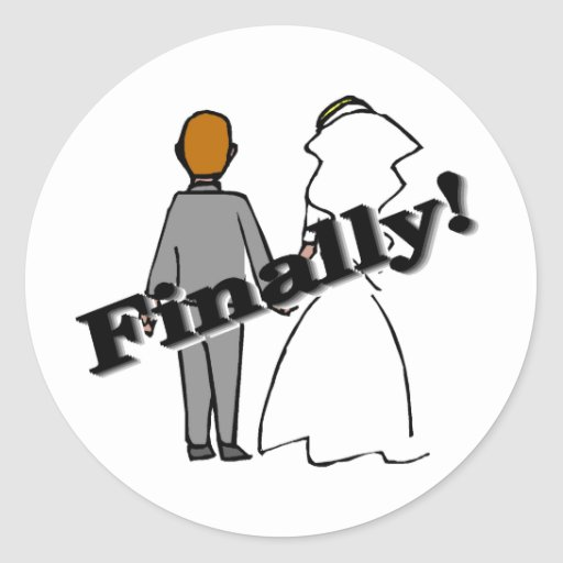 Finally Married Round Stickers