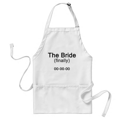 Finally the Bride Gift Aprons
