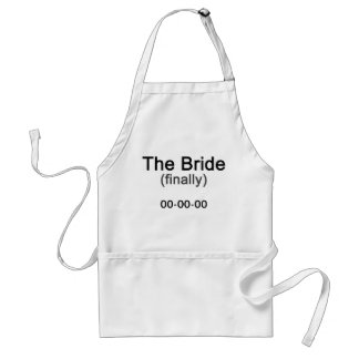 Finally the Bride Gift Standard Apron