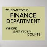 Finance Department Poster