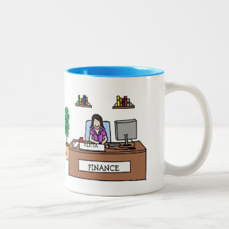 Finance professional - custom cartoon mug
