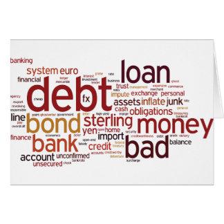 Finance Word Cloud Greeting Card