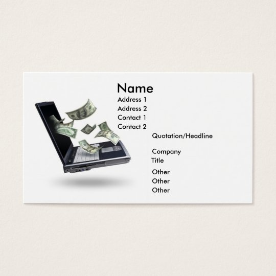 Finances, Money Business Card