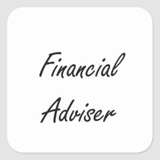 Financial Adviser Artistic Job Design Square Sticker