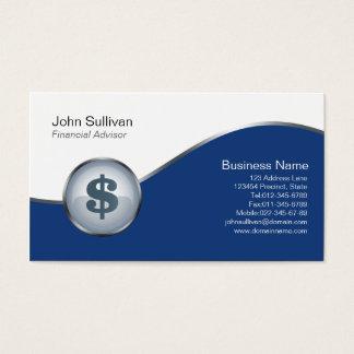 Financial Advisor Business Card Dollar Sign Icon