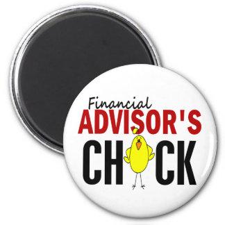Financial Advisor's Chick Fridge Magnet