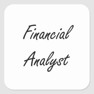 Financial Analyst Artistic Job Design Square Sticker