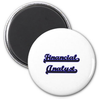 Financial Analyst Classic Job Design 2 Inch Round Magnet