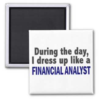 Financial Analyst During The Day Magnets