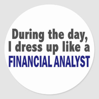 Financial Analyst During The Day Stickers