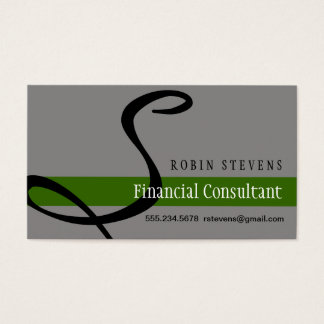 Financial Consulant Business Card