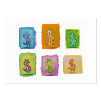 Financial consultant sales money fun unique art business card templates