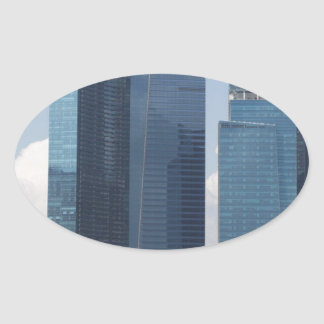 Financial district in Singapore Oval Sticker