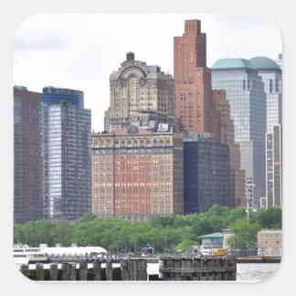 Financial District-Lower Manhattan Square Sticker