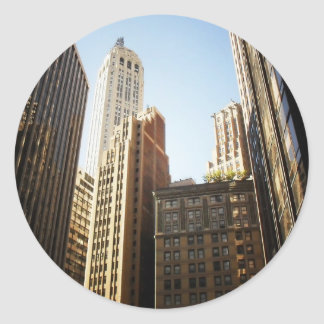 Financial District Skyscrapers, New York City Classic Round Sticker