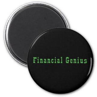 Financial Genius 6 Cm Round Magnet