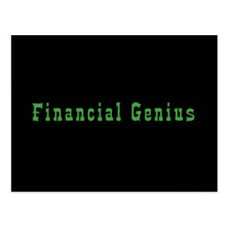 Financial Genius Postcard