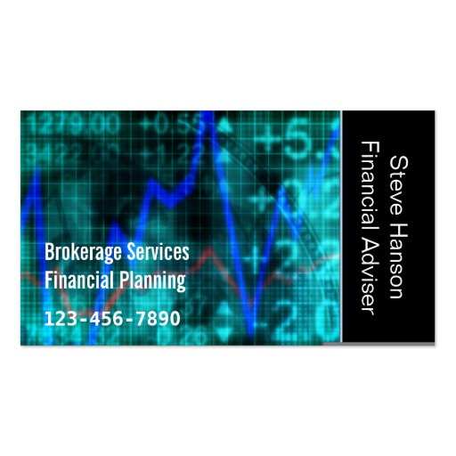 Financial Investment Services Company Business Cards