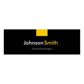 Financial Manager - Amber Yellow Compact Pack Of Skinny Business Cards