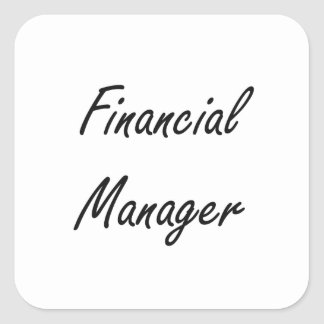 Financial Manager Artistic Job Design Square Sticker
