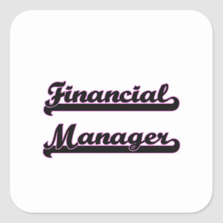 Financial Manager Classic Job Design Square Sticker