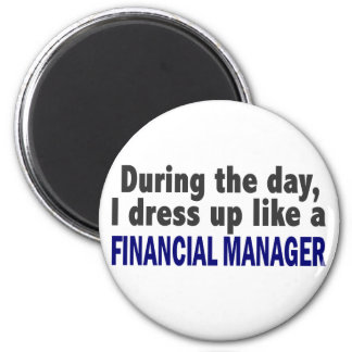 Financial Manager During The Day Fridge Magnet