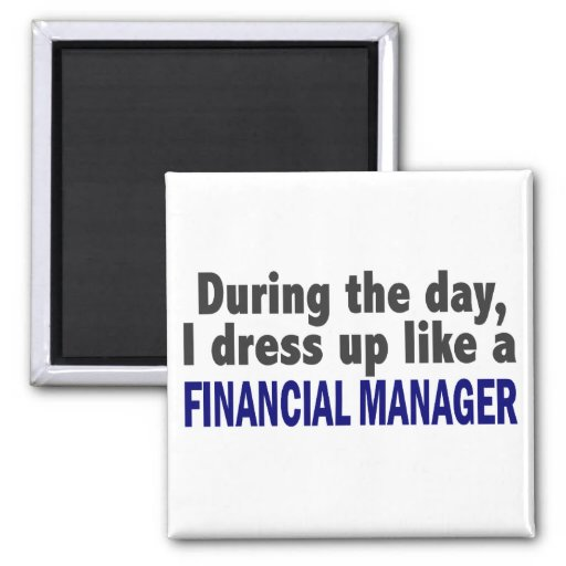 Financial Manager During The Day Fridge Magnets