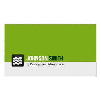 Financial Manager - Organic Green White Pack Of Standard Business Cards