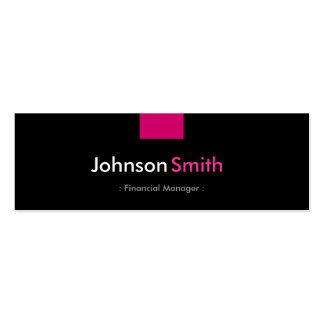Financial Manager - Rose Pink Compact Pack Of Skinny Business Cards