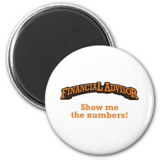 Financial / Numbers 6 Cm Round Magnet