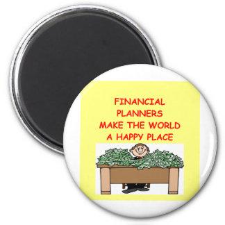 (financial planner 6 cm round magnet