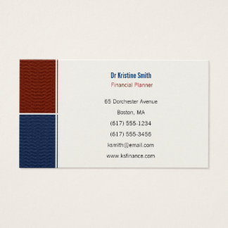 Financial Planner - Business Card