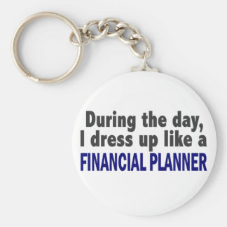 Financial Planner During The Day Key Chain
