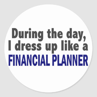 Financial Planner During The Day Sticker