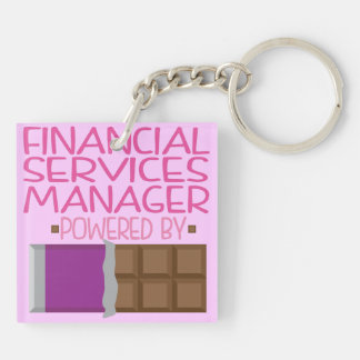 Financial Service Manager Chocolate Gift for Her Acrylic Keychains
