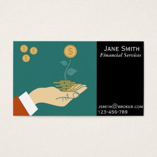 Financial Services, Broker, Financial Planner Business Card